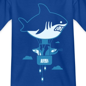 Animal Planet Humour Sharks Hot Air Balloon - Teenage T-shirt