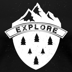 Explore the Mountains - Women's Premium T-Shirt