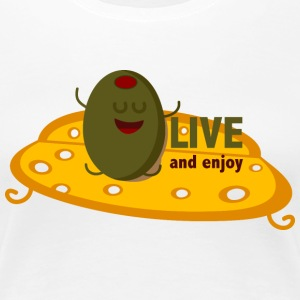 oLIVE and enjoy T-shirts - Premium-T-shirt dam