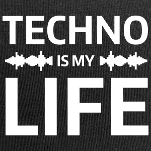 techno is my life house Club beat DJ Musik Caps & Mützen - Jersey-Beanie