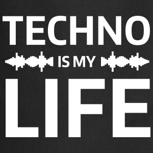 techno is my life house Club beat DJ Musik Schürzen - Kochschürze