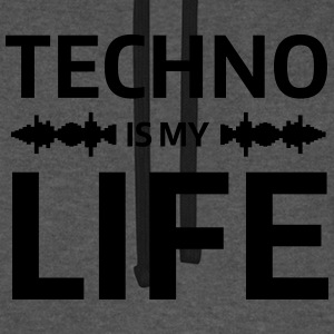 techno is my life house Club beat DJ Musik Bluzy - Bluza bejsbolowa typu unisex