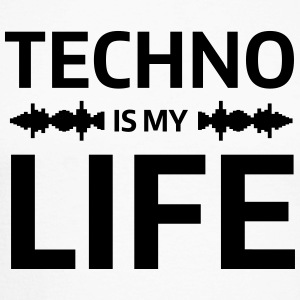 techno is my life house Club beat DJ Musik Long sleeve shirts - Men's Long Sleeve Baseball T-Shirt
