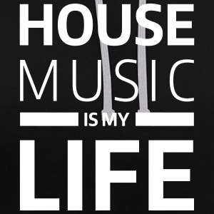 house music is my life techno Club DJ Musik Felpe - Felpa con cappuccio bicromatica