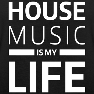 house music is my life techno Club DJ Musik T-shirts - Oversize-T-shirt dam