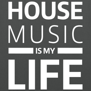 house music is my life techno Club DJ Musik Vesker & ryggsekker - Stoffveske