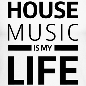 house music is my life techno Club DJ Musik Long sleeve shirts - Men's Long Sleeve Baseball T-Shirt