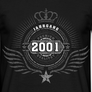 born_in_2001_crown03 T-Shirts - Männer T-Shirt