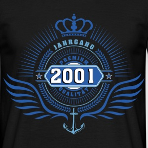 born_in_2001_crown02 T-Shirts - Männer T-Shirt