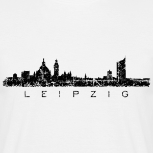 Leipzig Skyline Panorama Vintage Schwarz
