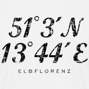 Elbflorenz Dresden Koordinaten Vintage Schwarz