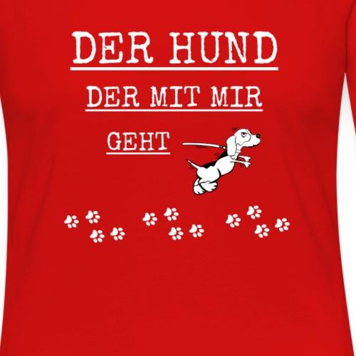 der hund der mit mir geht-Hunde T-Shirt Geschenk