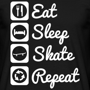 Eat,sleep,skate,repeat : Skate Shirt - Men's T-Shirt