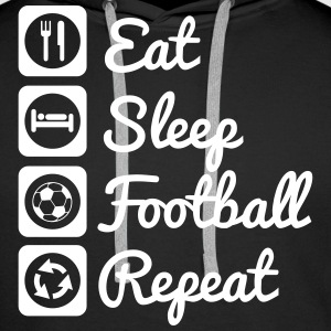 Eat,sleep,football,repeat Football shirt soccer - Men's Premium Hoodie