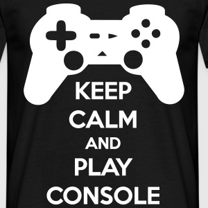 Keep calm and play console geek gamer - Men's T-Shirt