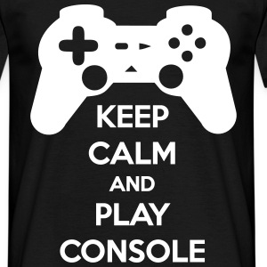 Keep calm and play console geek gamer - Männer T-Shirt