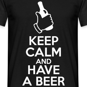 Keep calm and have a beer - Mannen T-shirt