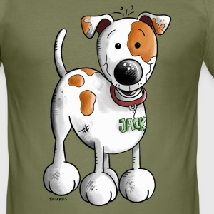 Söt Jack russell terrier T-shirts - Slim Fit T-shirt herr
