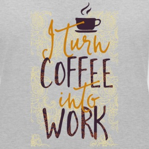 I coffee into work turn work coffee addicted T-Shirts - Women's V-Neck T-Shirt