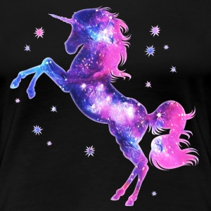 Einhorn, unicorn, space, Sterne, Fantasy, galaxy,  - Frauen Premium T-Shirt