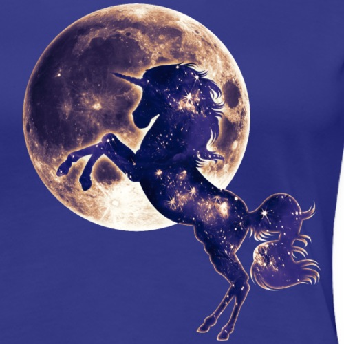 Einhorn, Vollmond, Unicorn, Fantasy, Mond, Magic