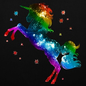 Unicorn rainbow, galaxy, space, gay, fantasy Tassen & rugzakken - Tas van stof