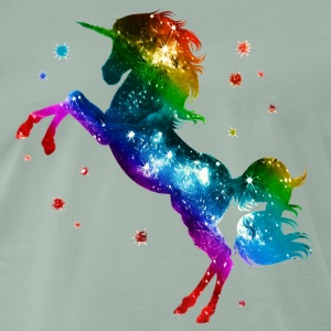 Unicorn rainbow, galaxy, space, gay, fantasy Koszulki - Koszulka męska Premium