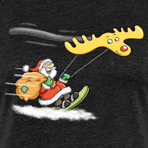 Weihnachtsmann Kitesurfen