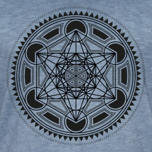 METATRONS CUBE, SACRED GEOMETRY, SPIRITUALITY T-shirts - Mannen Vintage T-shirt