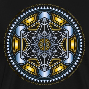 METATRONS CUBE, FLOWER OF LIFE, SPIRITUALITY T-Shi - Men's Premium T-Shirt