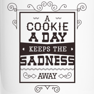 Cookie a day keeps sadness away- Essen Kekse Witz Tassen & Zubehör - Thermobecher