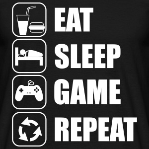 eat sleep game geek - Gaming Nerd T-shirts - Herre-T-shirt