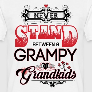 Grampy- Never Stand Between A And Her Grandkids T-Shirts - Men's T-Shirt