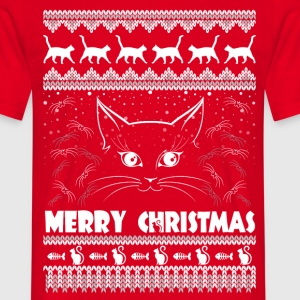 MEOWY CHRISTMAS merry christmas T-Shirts - Men's T-Shirt