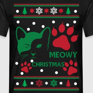 Meowy Christmas Ugly Tshirts T-Shirts - Men's T-Shirt