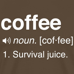 Funny Coffee Definition T-Shirts - Men's Premium T-Shirt