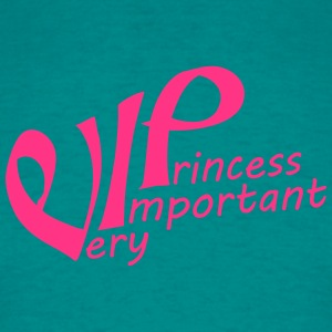 Schrift roze prinses prinses kroon leuk vip aardig T-shirts - Mannen T-shirt