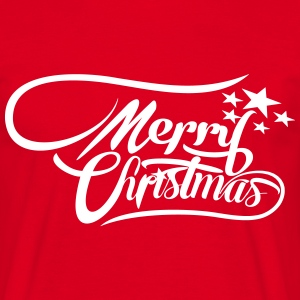 merrychristmas-ownfont T-shirts - Herre-T-shirt