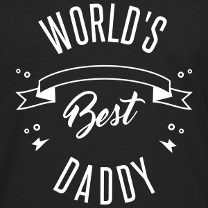 WORLD'S BEST DADDY Long sleeve shirts - Men's Premium Longsleeve Shirt