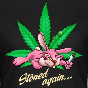 Saufen Kiffen Design stoned Rabbit T-Shirts - Frauen T-Shirt