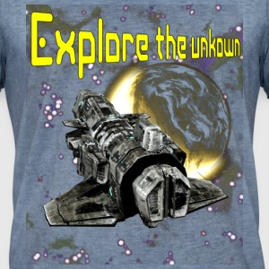 Explore the unknown sports t-shirt - Vintage-T-shirt herr