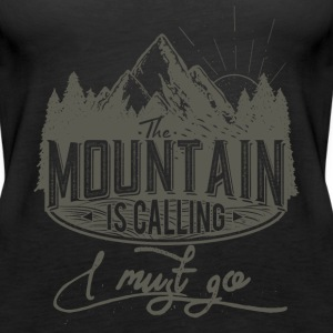 Mountain is calling - Der Berg ruft RAHMENLOS Geschenk Outdoor Sports 02 FS01 Tops - Frauen Premium Tank Top