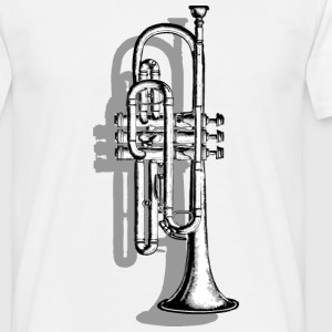 Trumpet with Shadow T-Shirts - Men's T-Shirt