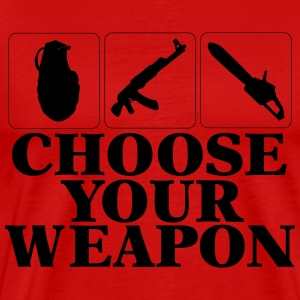 Choose your Weapon EGOshooter edition T-Shirts - Männer Premium T-Shirt
