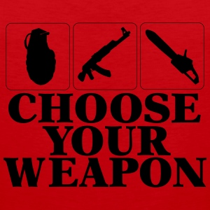 Choose your Weapon EGOshooter edition Sportbekleidung - Männer Premium Tank Top