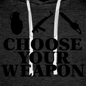 Choose your Weapon EGOshooter edition Pullover & Hoodies - Männer Premium Hoodie
