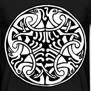 Celtic Art Bird Pattern - Book of Kells - Men's T-Shirt