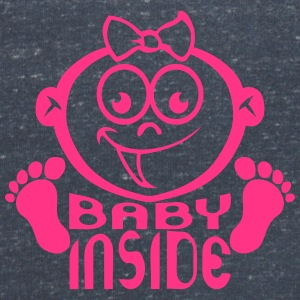 Baby inside head pregnant girl_16 T-Shirts - Women's V-Neck T-Shirt