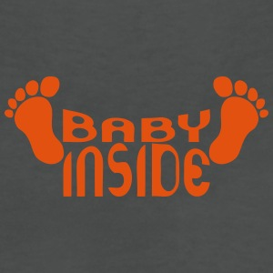 Baby inside foot logo pregnant T-Shirts - Women's V-Neck T-Shirt