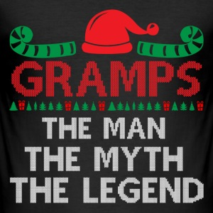 Gramps-The Man The Myth The Legend T-Shirts - Men's Slim Fit T-Shirt